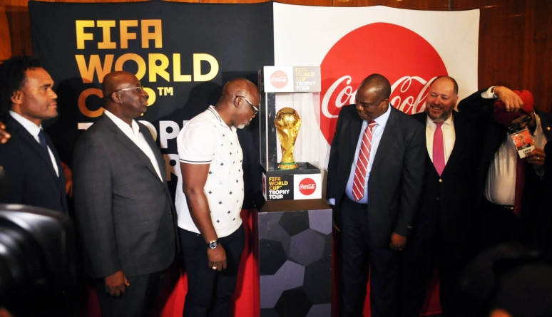 AS FIFA WORLD CUP TROPHY ARRIVES NIGERIA, KEREMBEU TIPS EAGLES FOR UPSETS