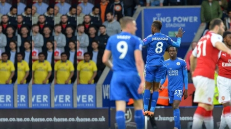 IHEANACHO LEADS LEICESTER CITY TO 3-1 WIN OVER ARSENAL