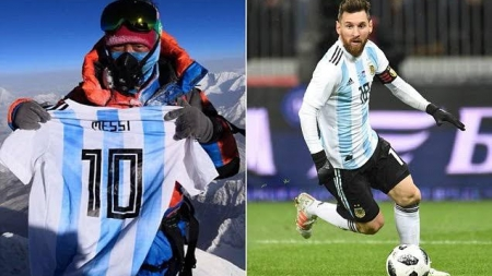 MESSI SHIRT HITS MOUNT EVEREST