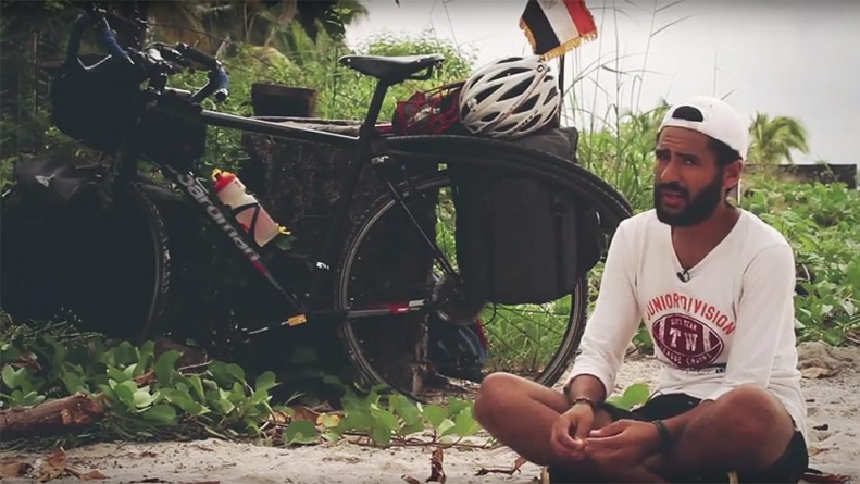 EGYPTIAN RIDES BIKE TO RUSSIA FOR WORLD CUP