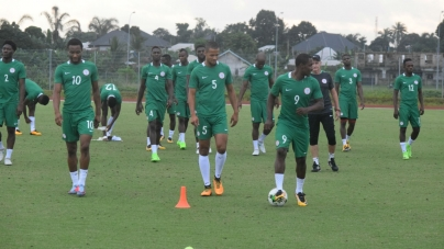 SUPER EAGLES HOLDS FIRST TRAINING SESSION WEDNESDAY MORNING IN SEYCHELLES