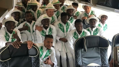 KELECHI IHEANACHO DROPPED AS NIGERIA'S 23-MAN AFCON SQUAD LANDS IN ISMAILIA