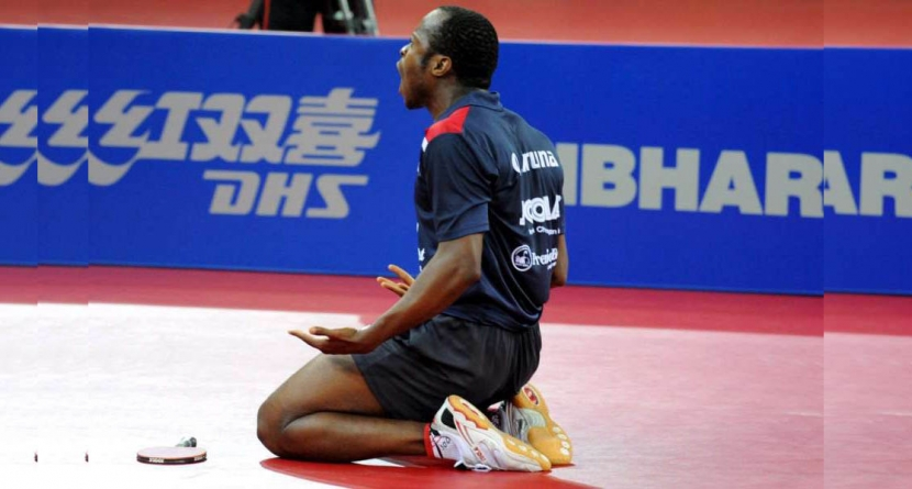 AT HOME FRONT, TABLE TENNIS KING, ARUNA QUADRI GETS ROYAL BLESSINGS FROM ALAAFIN