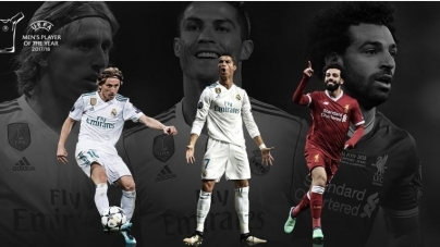MODRIĆ, RONALDO AND SALAH UP FOR PLAYER OF THE YEAR