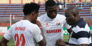 RANGERS' COACH, OGUNBOTE EXPLAINS SLIP IN TUNISIA