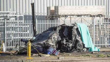 BLACK BOX OF LEICESTER CITY CRASHED HELICOPTER RECOVERED