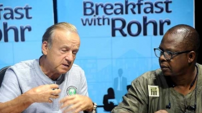 SUPER EAGLES COACH, GERNOT ROHR, EYES TRICYCLE