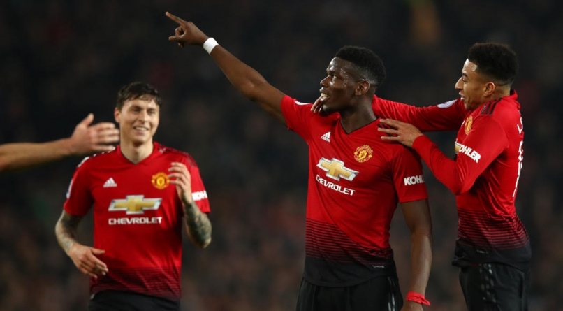 PAUL POGBA FIRES UNITED INTO EPL TOP FOUR