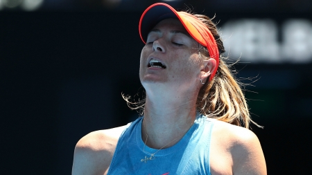 BOOS AS MARIA SHARAPOVA IS ELIMINATED FROM AUSTRALIAN OPEN