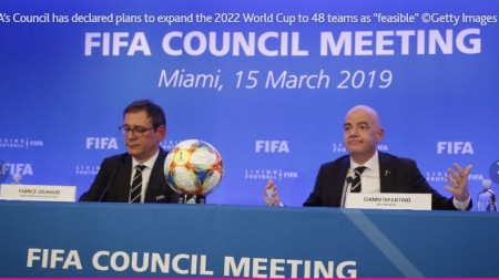 FIFA CONGRESS TO APPROVE 16 ADDITIONAL SLOTS FOR QATAR 2022