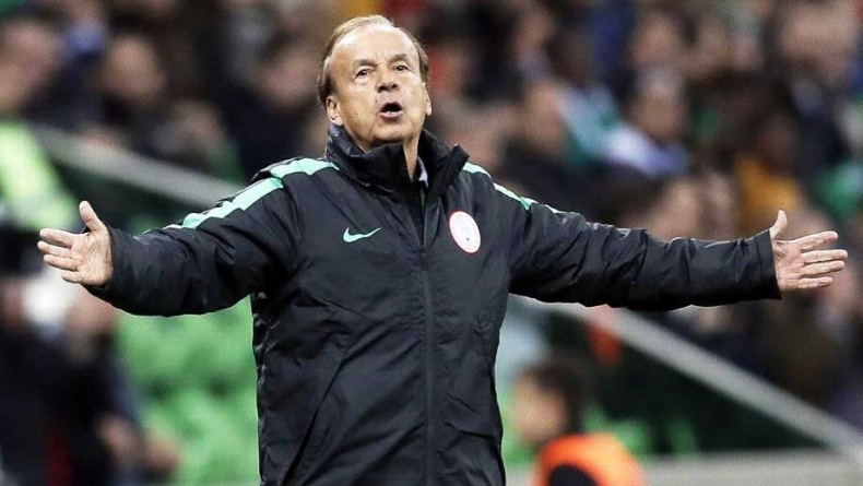 AFRICA CUP NATIONS PITCH GERNOT ROHR AGAINST HIS IN-LAWS
