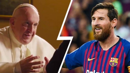 DON'T IDOLIZE MESSI, SAYS THE POPE