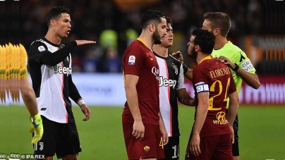 'YOU ARE TOO SHORT TO SPEAK! ANGRY CRISTIANO RONALDO TELLS ROMA DEFENDER