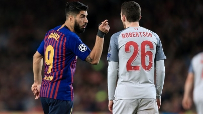 UCL: COMMOTION AS LUIS SUAREZ AND LIVERPOOL'S ANDY ROBERTSON CLASH IN DRESSING ROOM