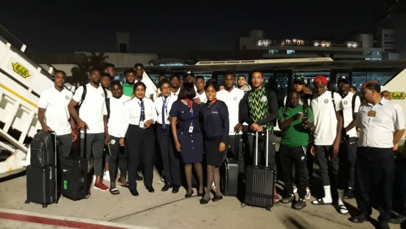 SUPER EAGLES HAVE FIRST TRAINING SESSION IN ISMAILIA