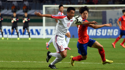 COLD WAR DIFFUSED AS NORTH AND SOUTH KOREA ARE GROUPED TOGETHER IN FIFA WORLD CUP QUALIFYING DRAW