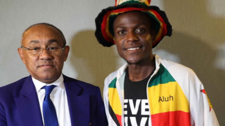 LUCKY HITCH-HIKING ADVENTURER OFFERED FLIGHT TICKET BACK HOME BY CAF PRESIDENT