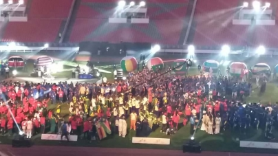 FIREWORKS, COLOURFUL LIGHTING DISPLAYS AS CURTAIN FALLS ON AFRICAN GAMES 2019