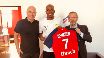 PHOTOS: VICTOR OSIMHEN ASSIGNED SHIRT NUMBER 7 AT LILLE