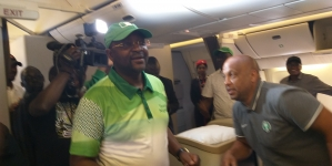 SPORTS MINISTER, SUNDAY DARE HOLDS ON-BOARD RECEPTION FOR TEAM NIGERIA