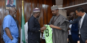 SPORTS MINISTER, DARE, NFF RESOLVE TO TAKE NIGERIAN FOOTBALL TO NEW HEIGHTS