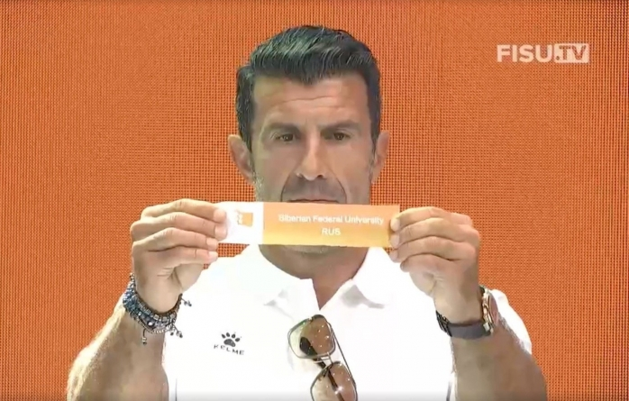 REAL MADRID GREAT, LUIS FIGO, CONDUCTS DRAW FOR 1ST UNIVERSITY FOOTBALL WORLD CUP