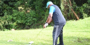 SPORTS MINISTER, DARE,  TEES OFF GOLF TOURNEY MARKING NIGERIA'S 59TH INDEPENDENT ANNIVERSARY