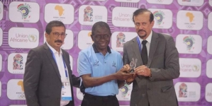 NIGERIA'S LONGEST SERVING UMPIRE HONOURED BY AFRICAN TABLE TENNIS FEDERATION
