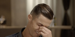 VIDEO: RONALDO CRIES ON TV, WATCHING CLIPS OF LATE FATHER TALKING ABOUT HIS FUTURE