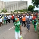 NIGERIA'S SPORTS MINISTER, SUNDAY DARE, OTHERS IN HEALTH IS WEALTH JOGGING