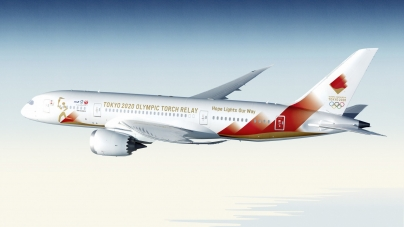 OLYMPIC FLAME ARRIVE TOKYO BY AIR ON MARCH 20