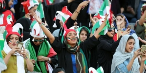 IRANIAN WOMEN WATCH MEN'S FOOTBALL MATCH FOR THE FIRST TIME IN 40 YEARS