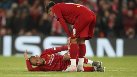 ANKLE INJURY KNOCKS OUT LIVERPOOL'S FABINHO TILL 2020