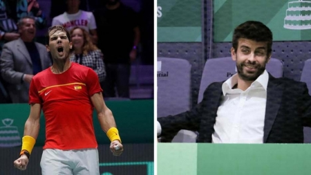 BARCELONA DEFENDER, PIQUE BLASTS TENNIS LEGEND, ROGER FEDERER