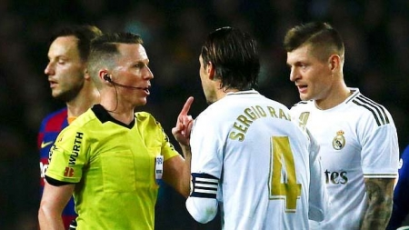 REAL MADRID BLASTS: EL CLASICO REFEREE ROBBED US!