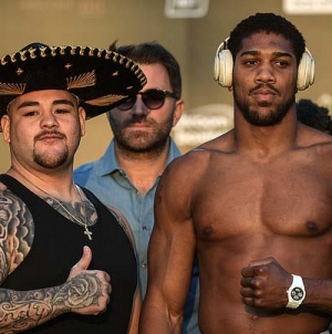 ANTHONY JOSHUA DROPS 10 POUNDS TO RECORD LIGHTEST EVER