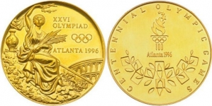 FOOTBALLER SELLS ATLANTA OLYMPIC GOLD MEDAL FOR $34,440