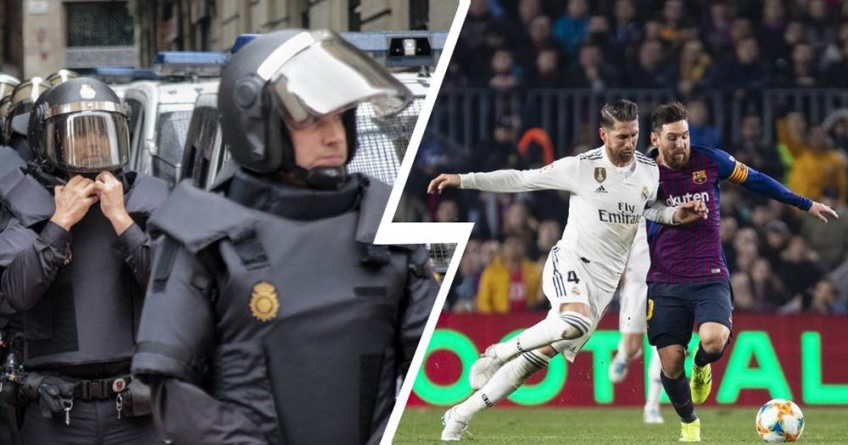CATALONIA POLICE BRACE UP FOR A LIKELY DIFFICULT  EL CLASICO