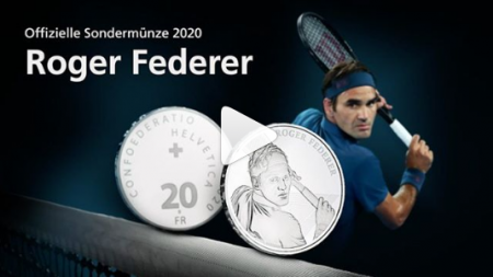 ROGER FEDERER BECOMES FIRST LIVING PERSON TO APPEAR ON SWISS COIN