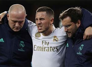 REAL MADRID MIDFIELDER HAZARD TO MISS 'EL CLASICO'
