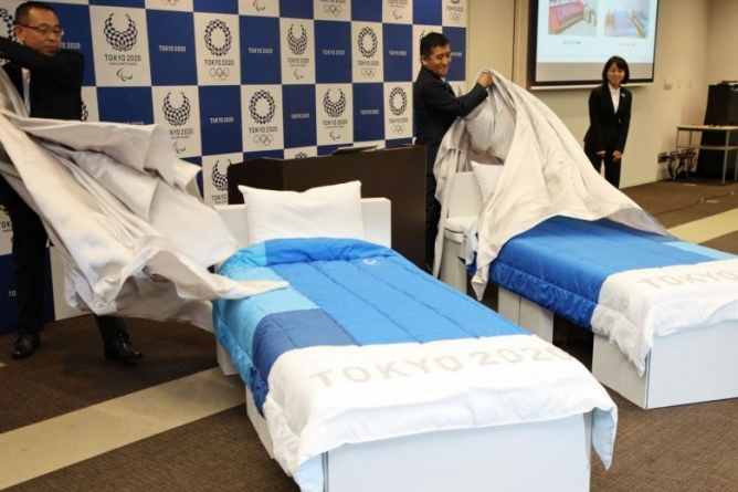 THOUSANDS OF CONDOMS FOR TOKYO 2020 OLYMPIC ATHLETES AS CONCERN RISES OVER CARDBOARD BEDS