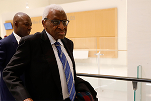 TRIAL OF FORMER IAAF BOSS, LAMINE DIACK SUFFERS DELAY