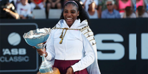 SERENA WILLIAMS ENDS THREE-YEAR TITLE DROUGHT