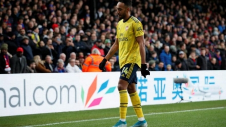 AUBAMEYANG SEES RED IN ARSENAL'S 1-1 DRAW WITH PALACE