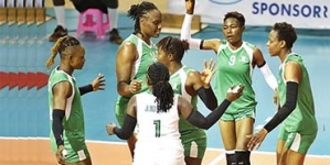 NIGERIA 'S WOMEN VOLLEYBALL TEAM FIGHTS BACK TO DEFEAT BOTSWANA
