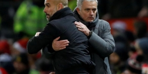 AFTER UEFA BAN, MOURINHO TEASES PEP GUARDIOLA'S 2018 TITLE