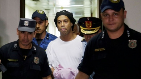 RONALDINHO CELEBRATES 40TH BIRTHDAY WITH BIG BARBECUE IN PRISON