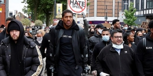 ANTHONY JOSHUA JOINS JUSTICE FOR GEORGE FLOYD PROTEST