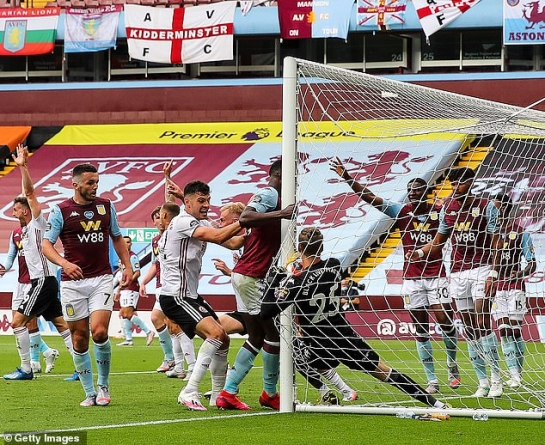 REFEREES BODY TO REVIEW TECH ERROR THAT DENIED SHEFFIELD UNITED GOAL AGAINST ASTON VILLA