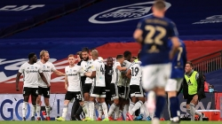 FULHAM  BACK IN THE PREMIERSHIP AS BRENTFORD'S LOWER  DIVISION STAY EXTENDS TO 74TH YEAR